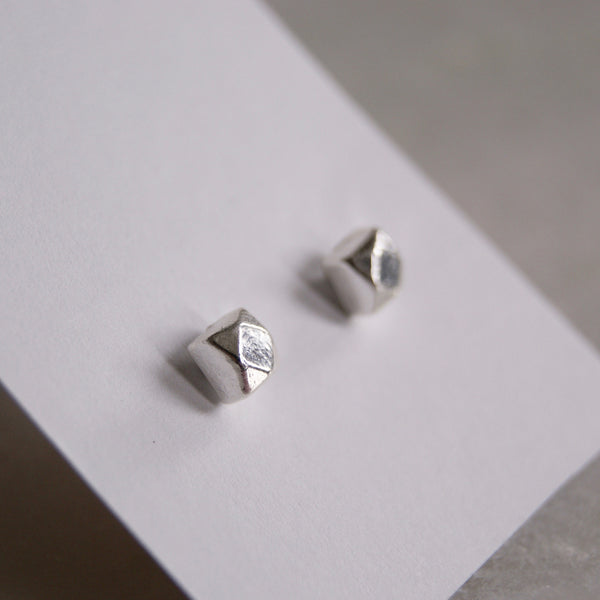 Chunky Square Earrings Silver- Golden Rule Jewelry Co.