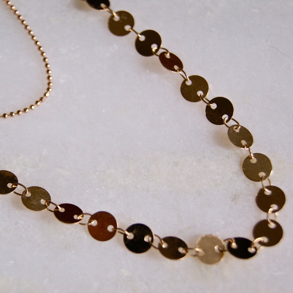 Dainty Dots Double Necklace Gold- Golden Rule Jewelry Co.