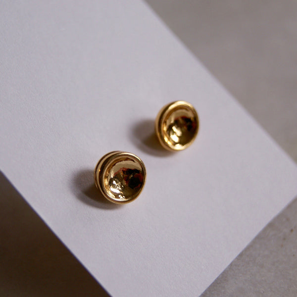 Dimple Dot Earrings Gold- Golden Rule Jewelry Co.