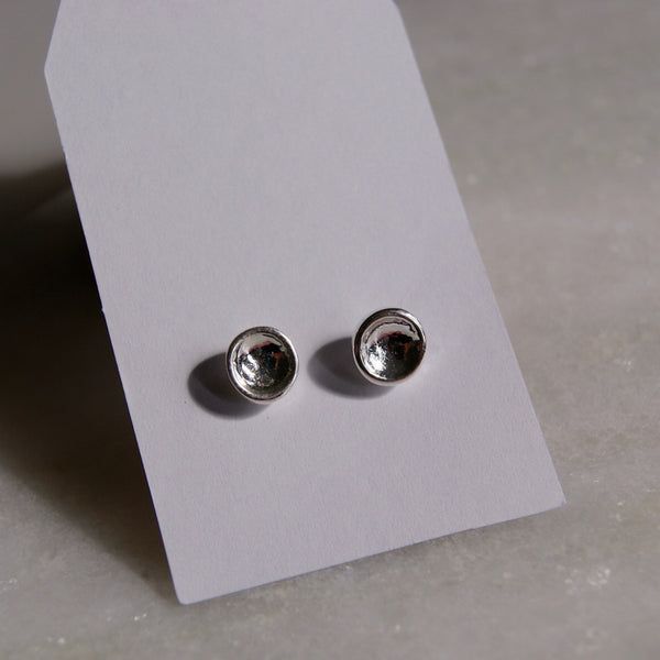 Dimple Dot Earrings Silver- Golden Rule Jewelry Co.