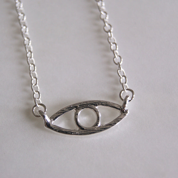 Evil Eye Necklace Silver- Golden Rule Jewelry Co.