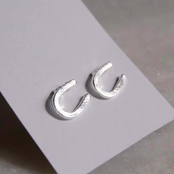 Horseshoe Earrings Silver- Golden Rule Jewelry Co.