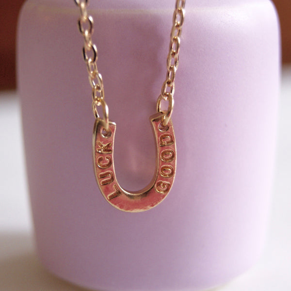 Horseshoe Necklace Gold- Golden Rule Jewelry Co.