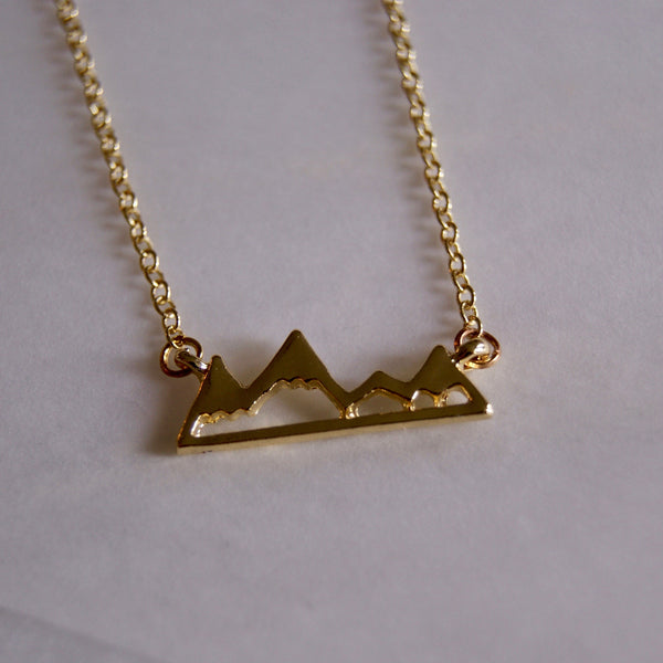 Mountain Range Necklace Gold- Golden Rule Jewelry Co.