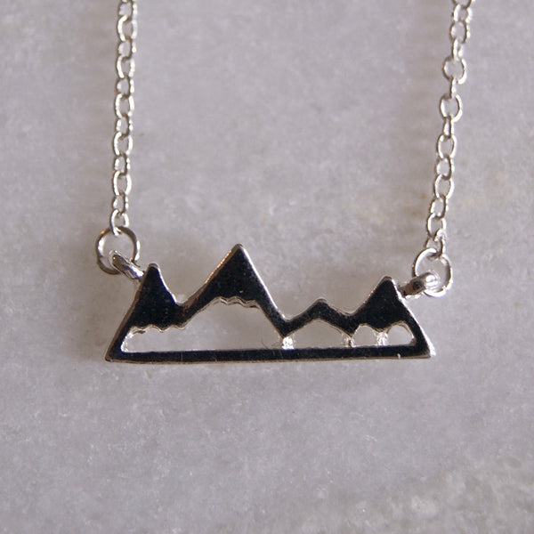 Mountain Range Necklace Silver- Golden Rule Jewelry Co.