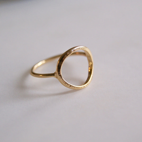 Open Circle Ring Gold- Golden Rule Jewelry Co.