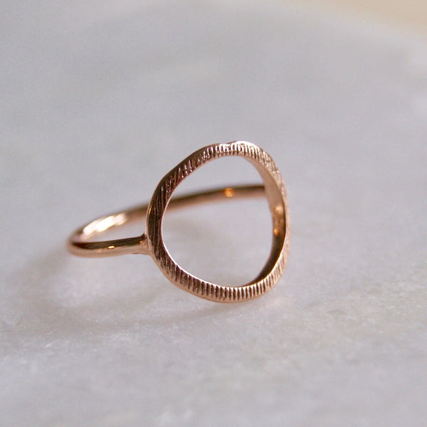 Open Circle Ring Rose Gold- Golden Rule Jewelry Co.