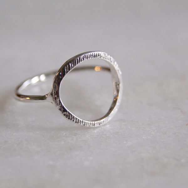 Open Circle Ring Silver- Golden Rule Jewelry Co.