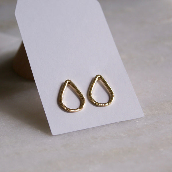 Open Teardrop Earrings Gold- Golden Rule Jewelry Co.