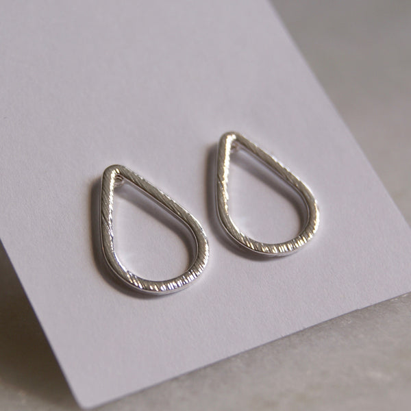 Open Teardrop Earrings Silver- Golden Rule Jewelry Co.