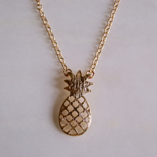 Pineapple Necklace Gold- Golden Rule Jewelry Co.
