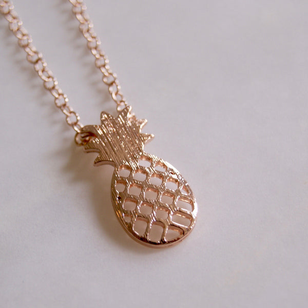 Pineapple Necklace Rose Gold- Golden Rule Jewelry Co.