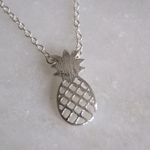 Pineapple Necklace Silver- Golden Rule Jewelry Co.