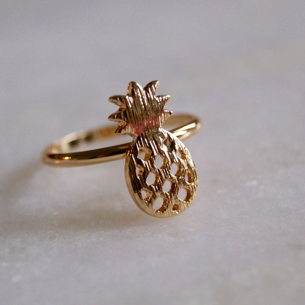 Pineapple Ring Gold - Golden Rule Jewelry Co.