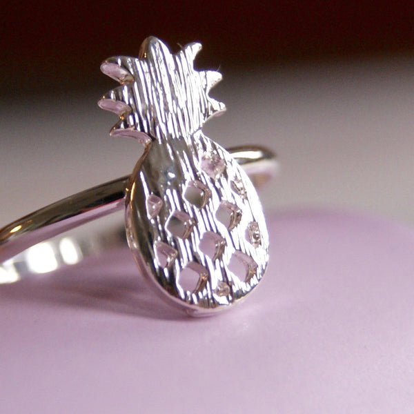 Pineapple Ring Silver - Golden Rule Jewelry Co.