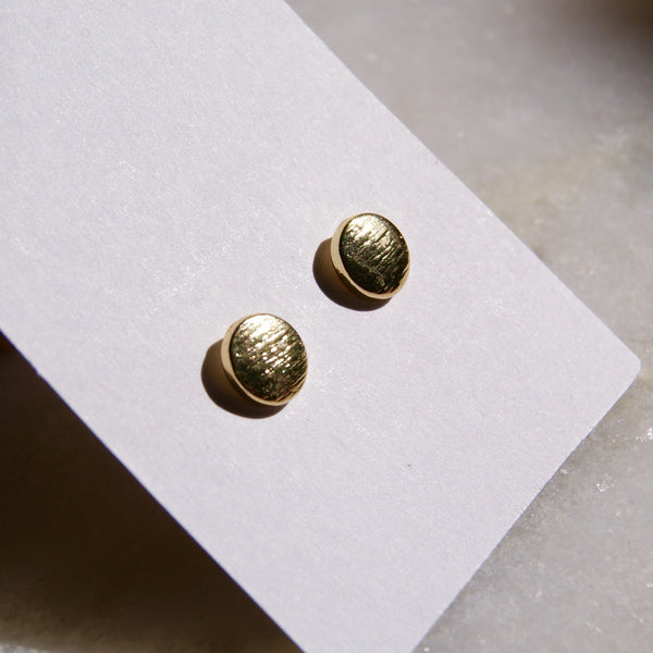 Polka Dot Gold Earrings - Golden Rule Jewelry Co.