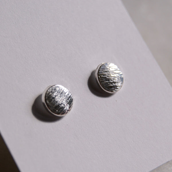 Polka Dot Silver Earrings - Golden Rule Jewelry Co.