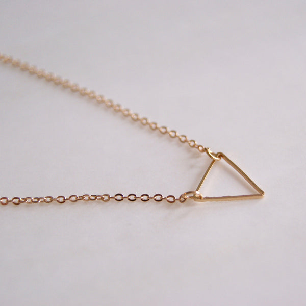 Tiny Triangle Gold Necklace- Golden Rule Jewelry Co.