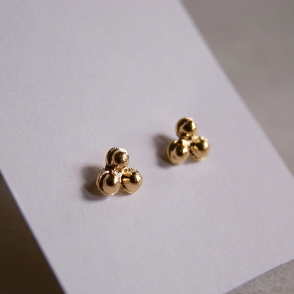 Tribead Gold Earrings- Golden Rule Jewelry Co.