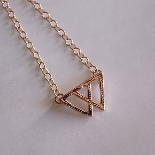 Twin Peaks Gold Necklace - Golden Rule Jewelry Co.