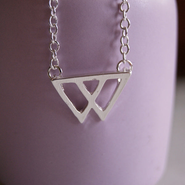 Twin Peaks Silver Necklace - Golden Rule Jewelry Co.