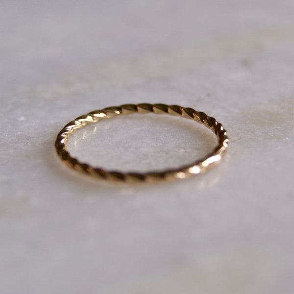 Twist Stacking Gold Ring- Golden Rule Jewelry Co.