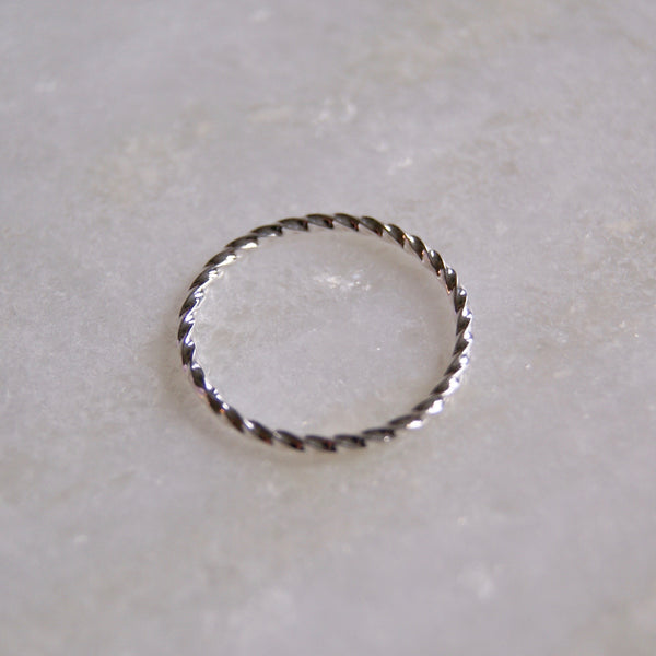 Twist Stacking Silver Ring- Golden Rule Jewelry Co.