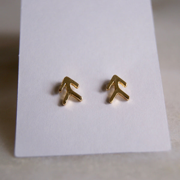 YY Gold Stud Earrings- Golden Rule Jewelry Co.