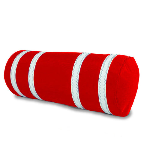 Nautical Stripes Bolster Sailcloth Cushion Cover - SailorBags Australia - 1