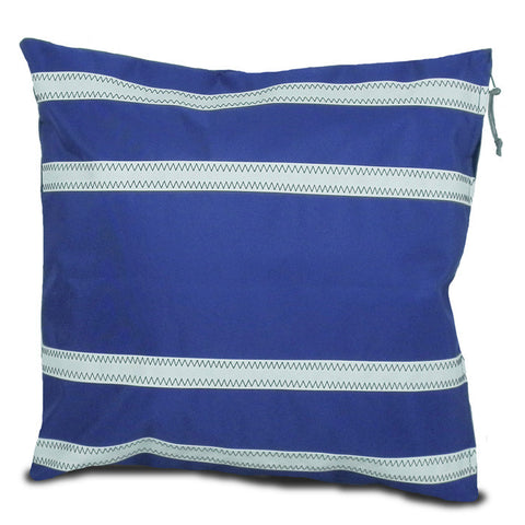 Nautical Stripes Casual Sailcloth Cushion Cover - SailorBags Australia - 1