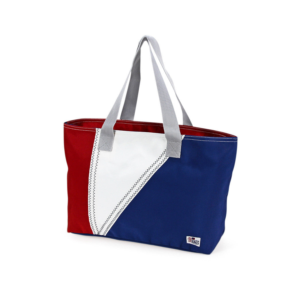 Nautical Tri-Sail Tote Bag Medium - SailorBags Australia - 2