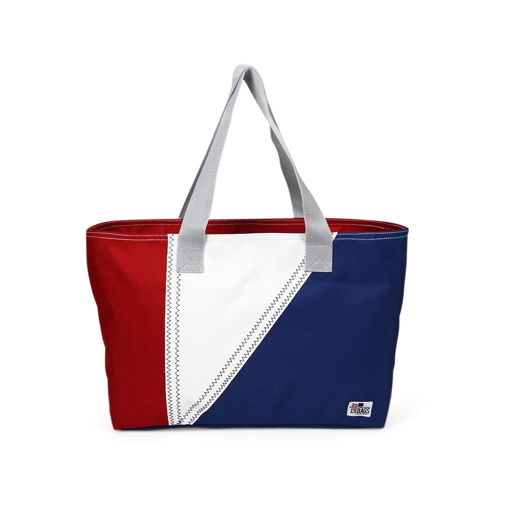 Nautical Tri-Sail Tote Bag Medium - SailorBags Australia - 5