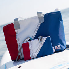 Nautical Tri-Sail Tote Bag Medium - SailorBags Australia - 3