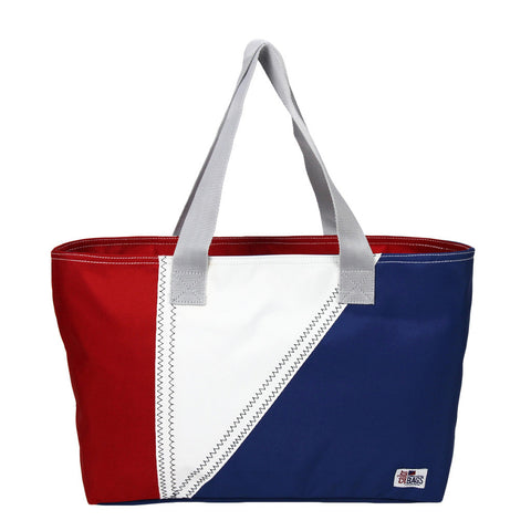 Nautical Tri-Sail Tote Bag Medium - SailorBags Australia - 1