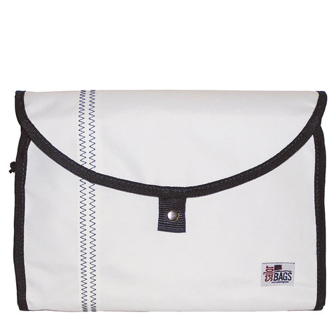 Hanging Toiletry Bag - White-Navy - SailorBags Australia - 1