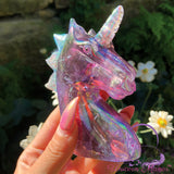 Unicorn Amethyst Aura Quartz Crystal *small chip*