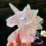 Unicorn Angel Aura Clear Quartz Crystal *small chip*