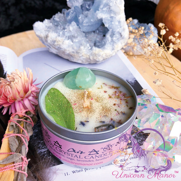MYSTIC UNICORN Air Crystal Candle - Elemental Magic