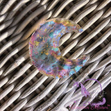 Angel Aura Quartz Crystal Crescent Moon