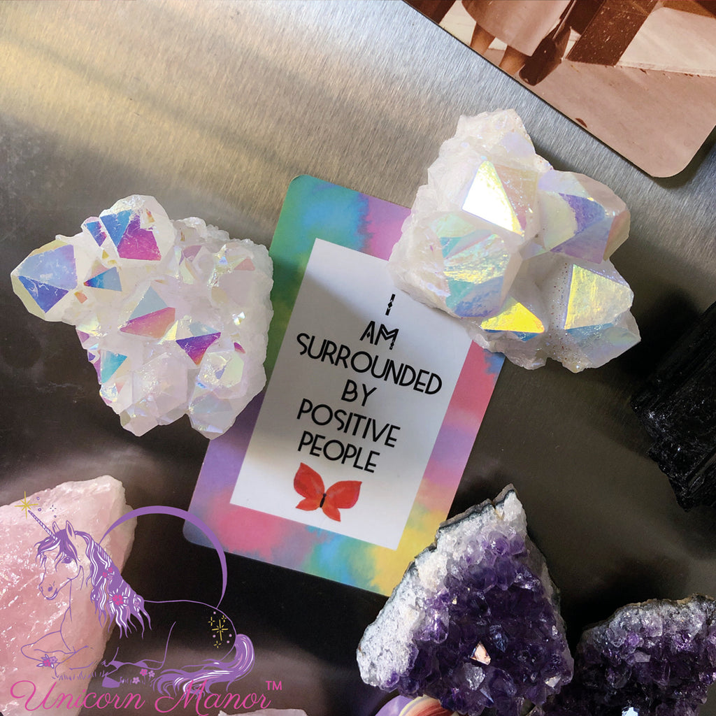 Angel Aura Quartz Cluster Crystal Magnet