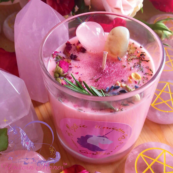 MYSTIC UNICORN CUSTOM Ritual Crystal Candle