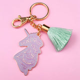 Unicorn Day Dreams Keychain - Lilac