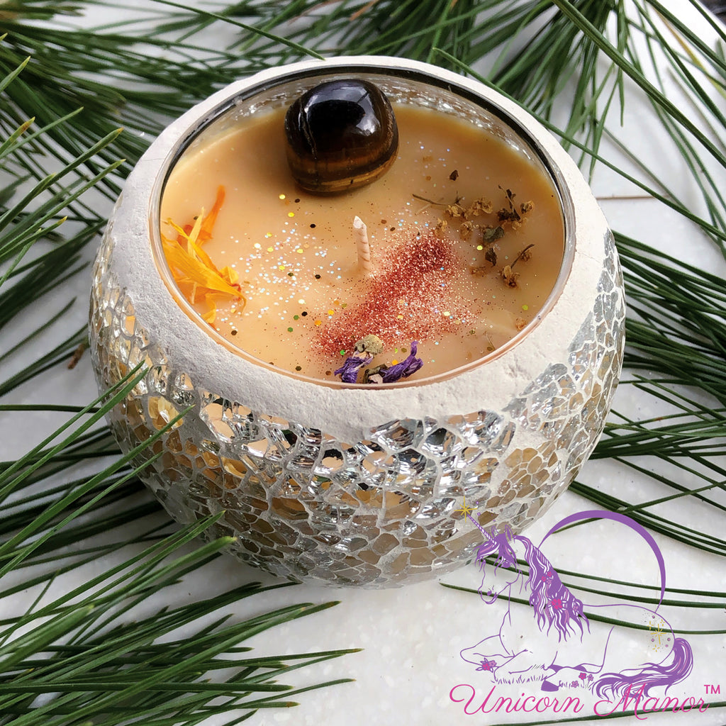 Limited Edition Gingerbread Solstice Crystal Candle *seasonal*