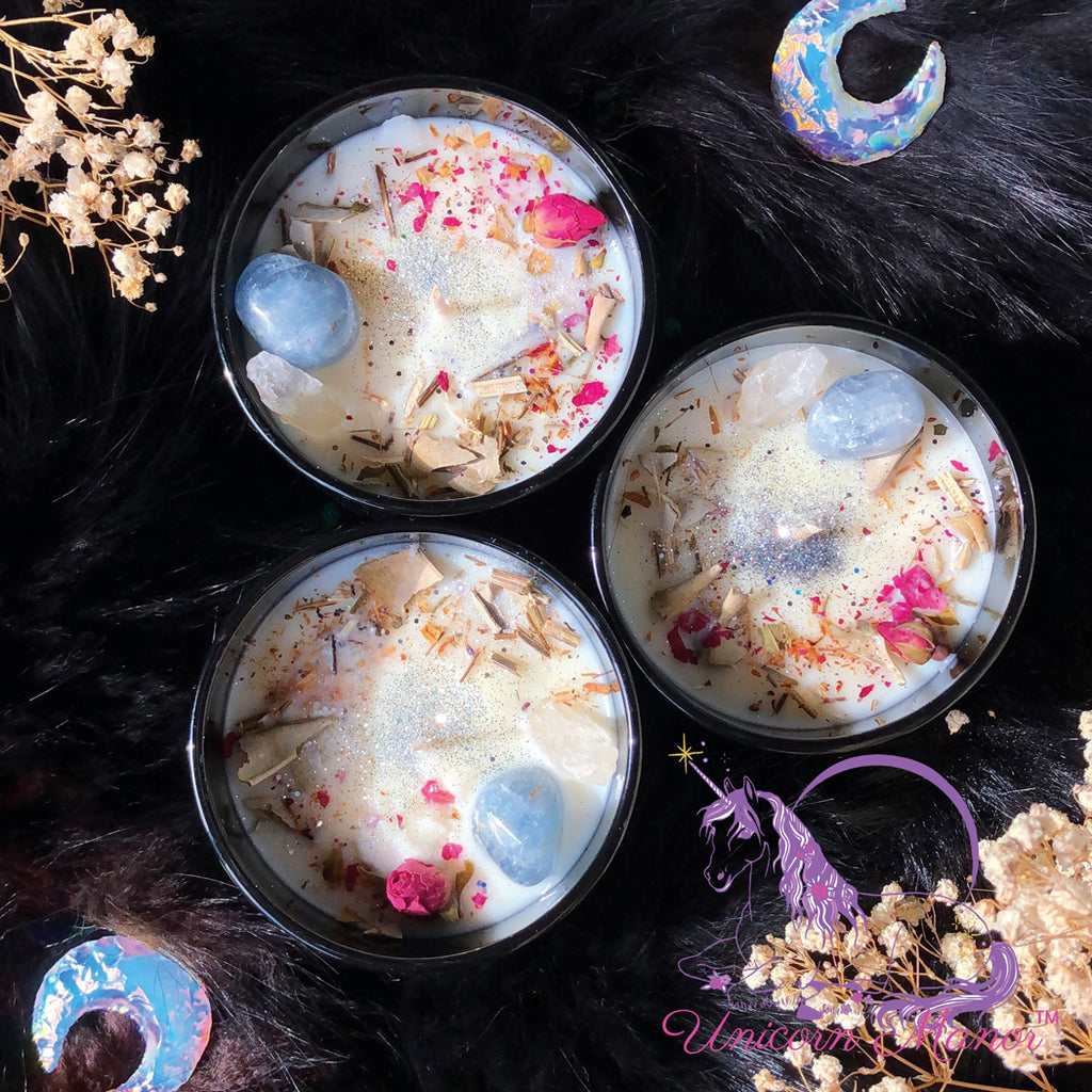 Mystic Unicorn High Priestess Luxury Crystal Candle