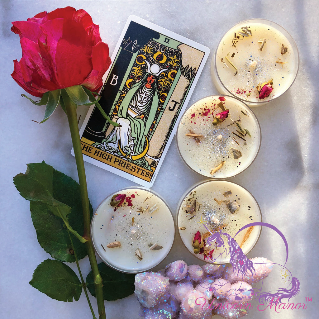 Mystic Unicorn High Priestess Maxi Tealight Set