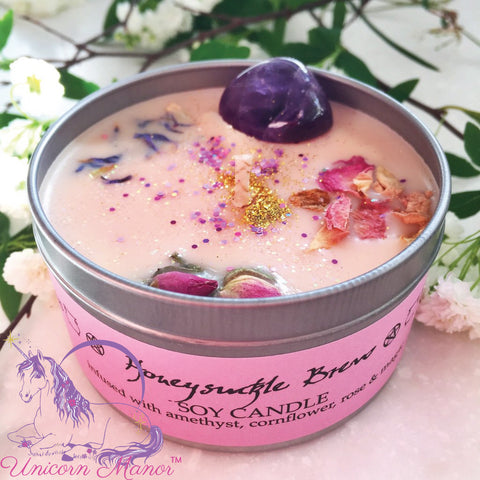 MYSTIC UNICORN Honeysuckle Brew Crystal Candle