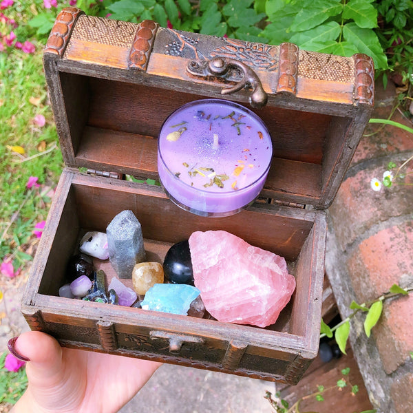 Witch's Box crystal candle set