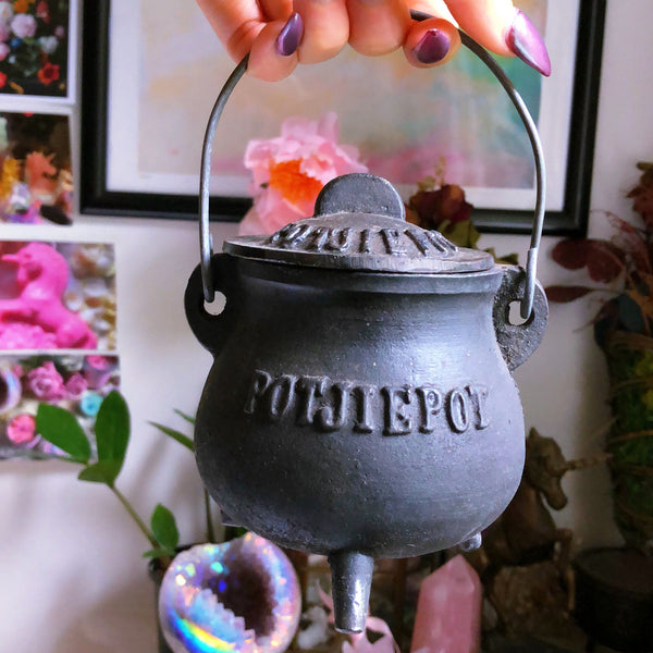 Witch's Cast Iron Mini Cauldron #2