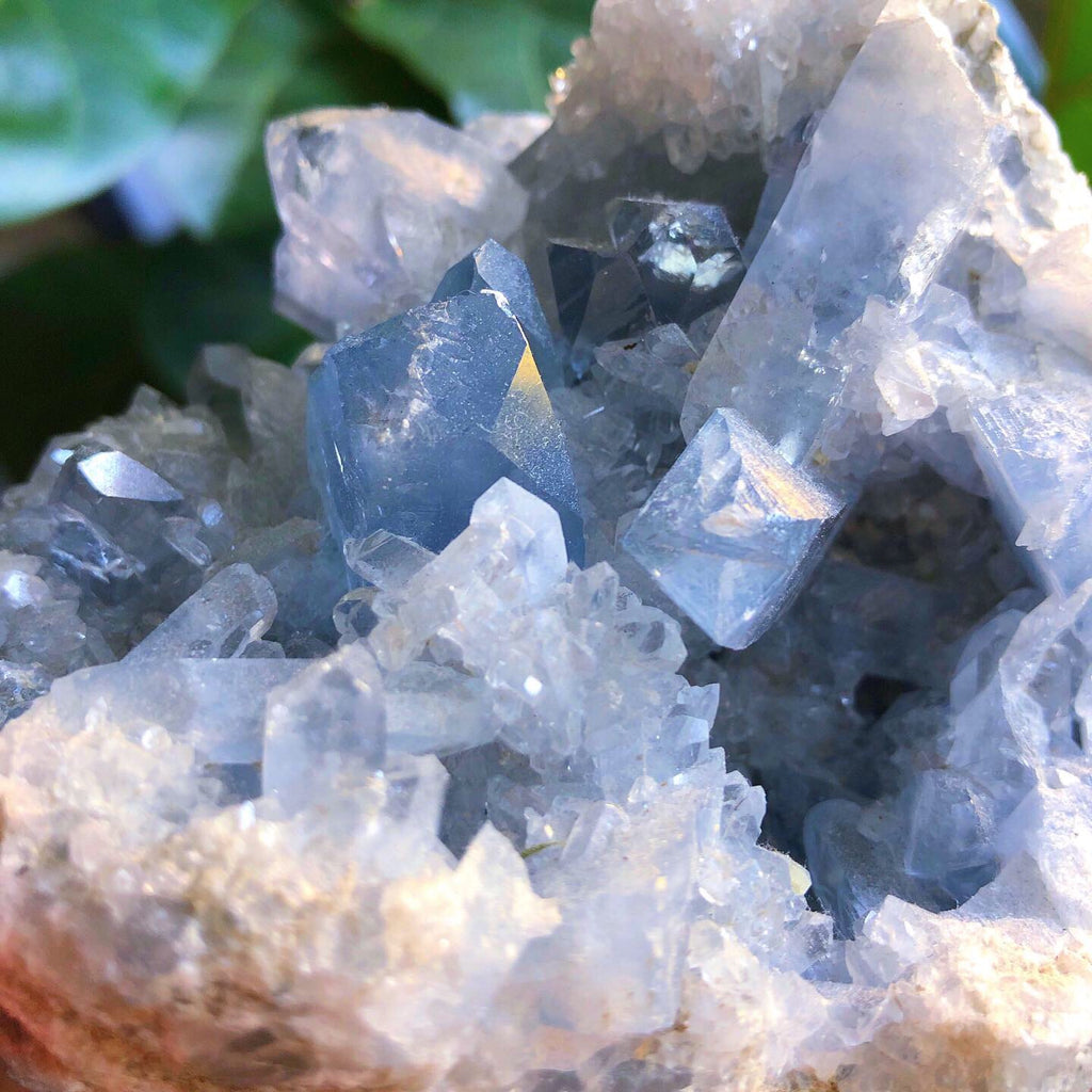 Celestite Crystal AAA Grade Self Standing Cluster #1