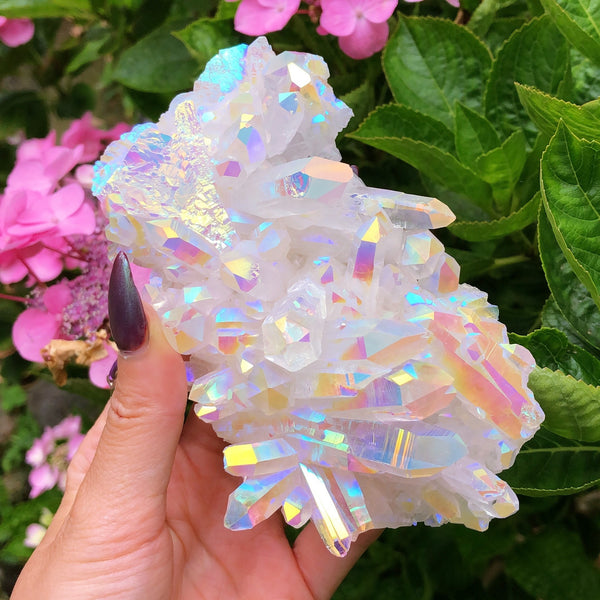 Angel Aura Himalayan Quartz XXL Display Cluster #1